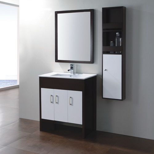 Wood bathroom cabinet SW-WD1008L