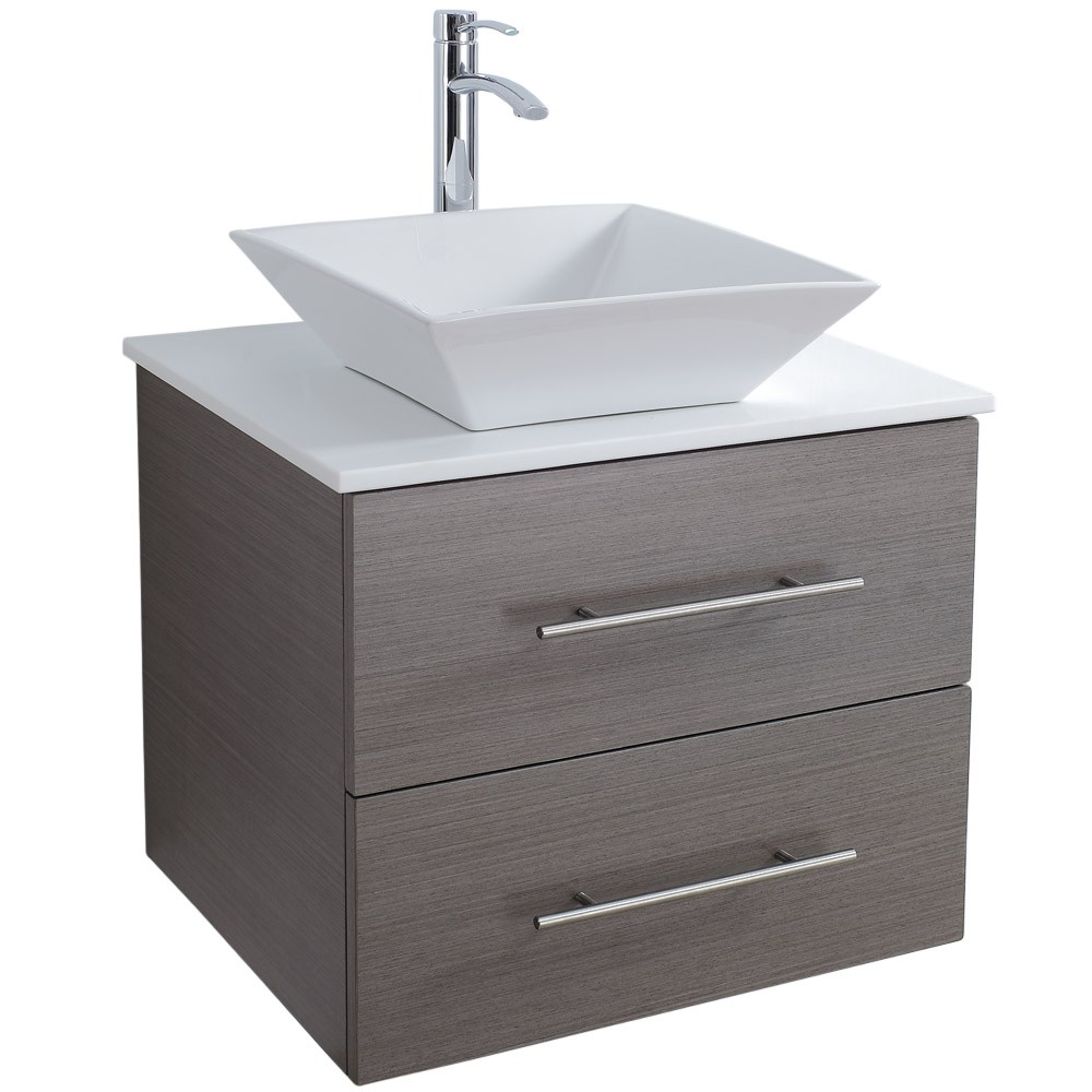 Wood veneer bathroom cabinet SW-V001