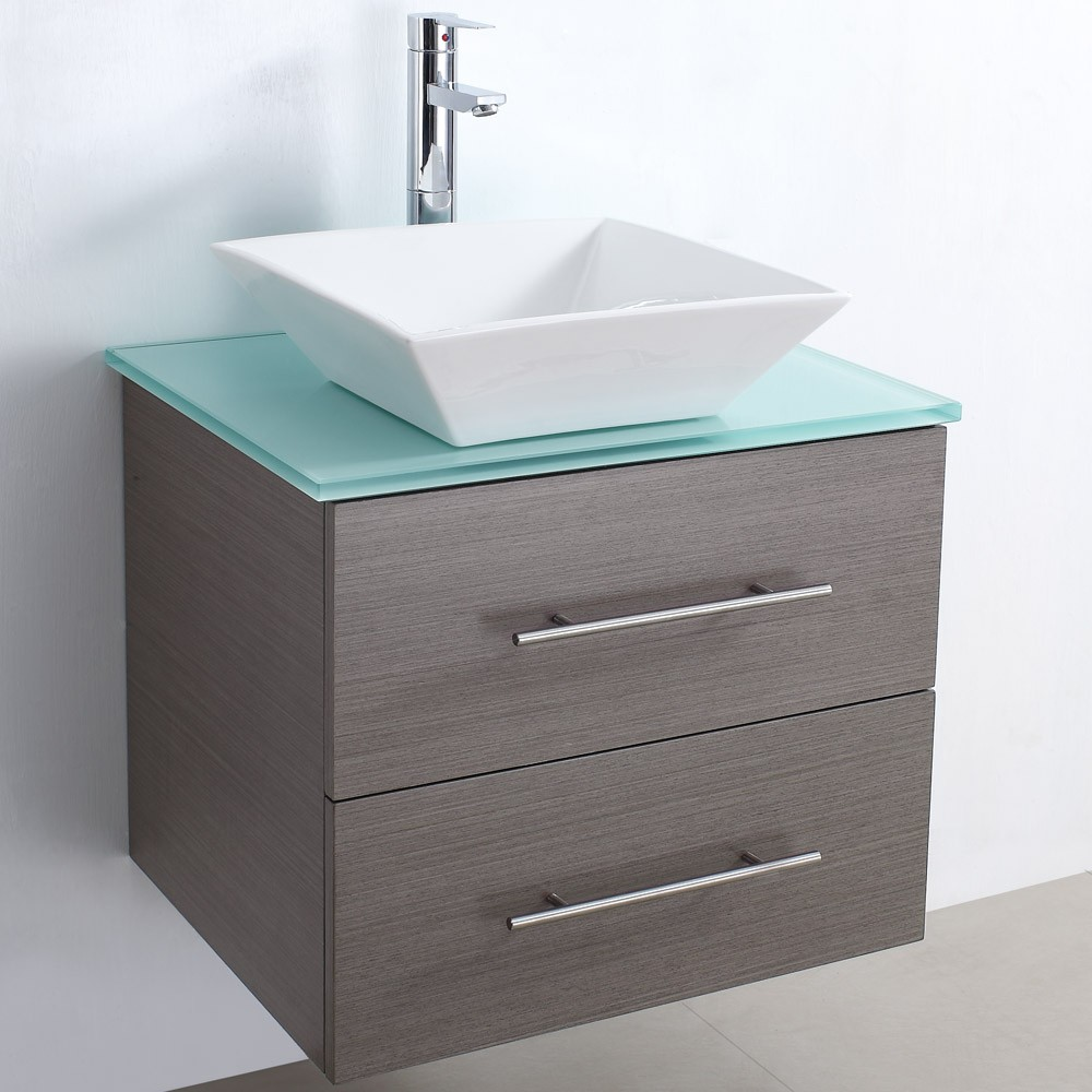Wood veneer bathroom cabinet SW-V005