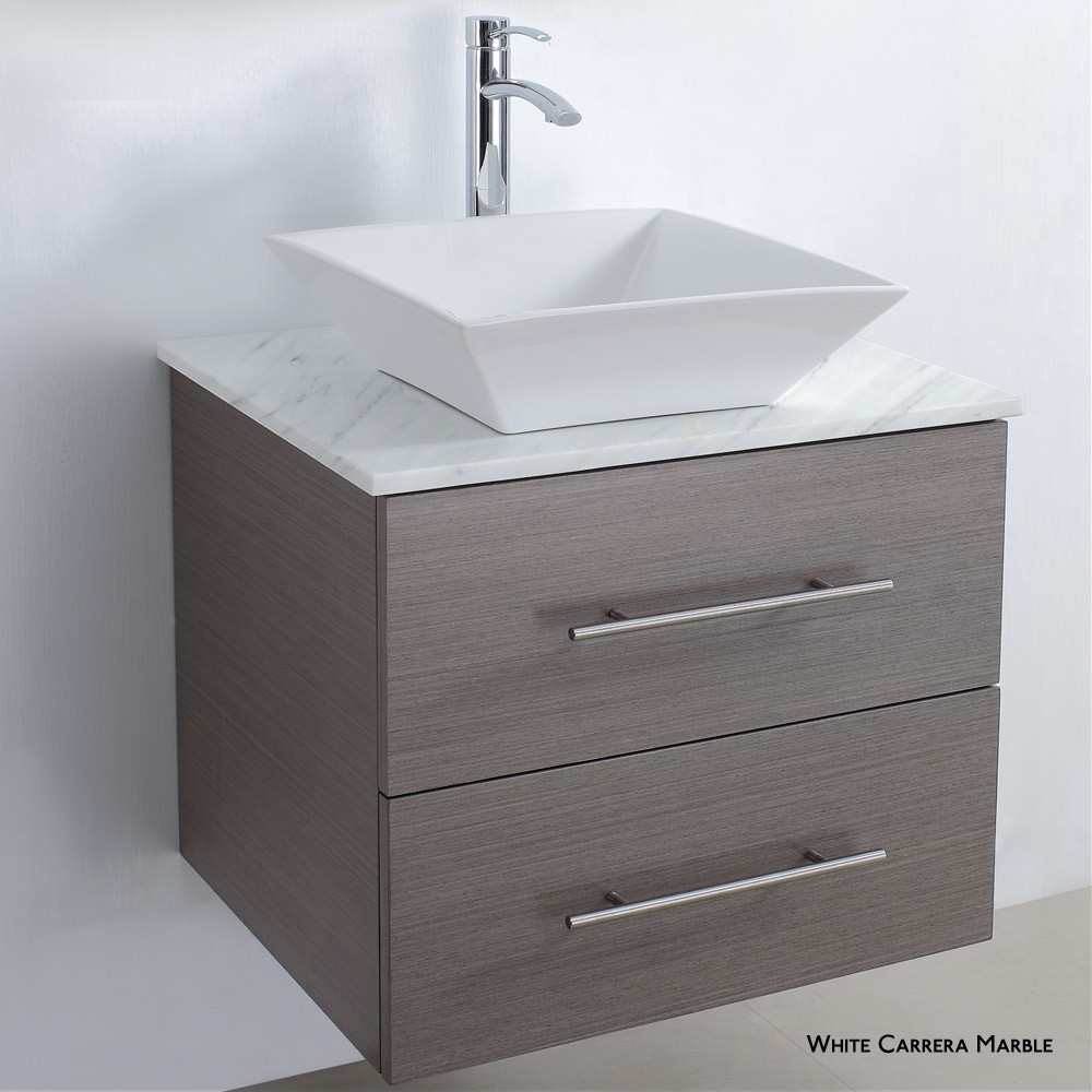 Wood veneer bathroom cabinet SW-V006