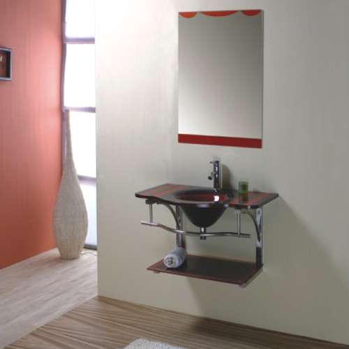 GLASS bathroom cabinet SW-G011
