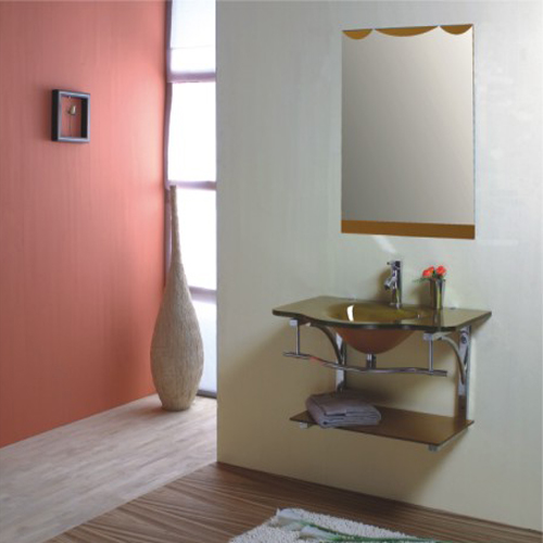GLASS bathroom cabinet SW-G012